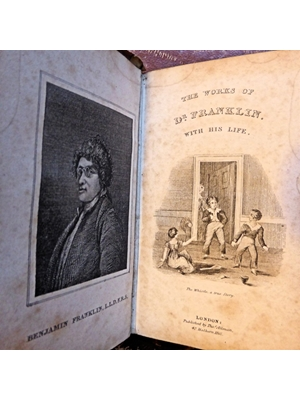 The Works of Dr (Benjamin) Franklin With His Life, Thomas Allman, Holborn Hill, London 1830 SOLD