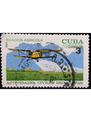 Cuba, Use of Aviation in Agriculture, 3 c, 1968 used fine