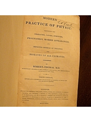 Modern Practice of Physic, exhibiting Character, Cause, Symptoms, Prognostics, Robert Thomas 1834