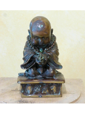 Chinese Child Buddha copper-bronze,  19th century, H 7.12 inches,