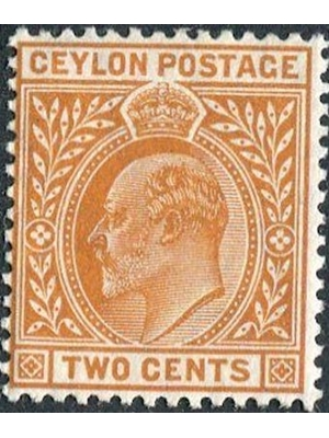 Ceylon, Edward VII, 2 Cents 1902-1911 mint