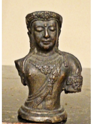 Bodhisattva Jaiy, Siam  bronze with intricate and detailed work, H 2.0, ca 18th - 19th century