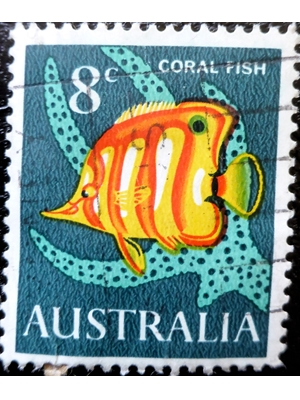 Australia, Fishes, Coral Fish, 1967 used