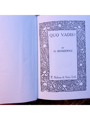 Quo Vadis,  H. Sienkiewicz 1925 (Hard Cover) Good Copy