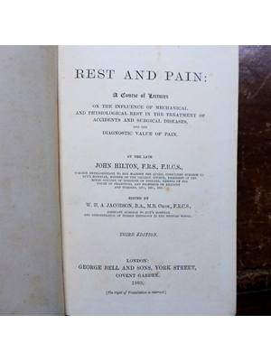ON REST AND PAIN: A COURSE OF LECTURES. John; Hilton, W H A Jacobson,  Illustrated 1877