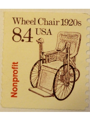 USA Wheelchair of 1920s, 1985 unused VF