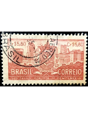 Brazil, 1954 The 400th Anniversary of Sao Paulo, 5.80 Cr used