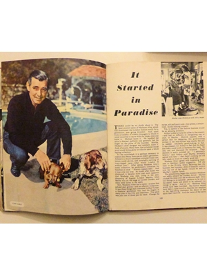 Film Review, 1953, Early 1950's movie and Hollywood memorabilia, Clark Gable, most plates intact, some lacking