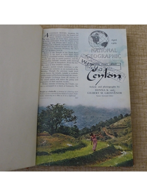 Ceylon, National Geographic Magazine, April 1996 A land of Morris Minors and Bullock Carts. A wonderful variety.