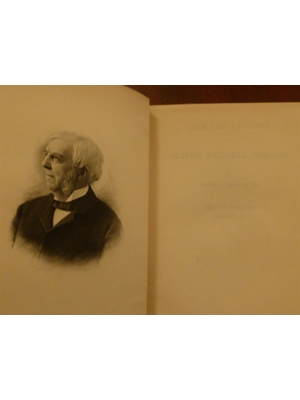 Life and Letters of Oliver Wendell Holmes by Morse, John T , 2 Volumes, Hard Cover, First Edition, 1896