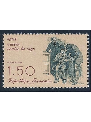 France, Centenary of Rabies Prevention 1885, History of Medicine 1985 MNH