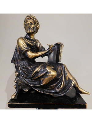 "Moses with his Tablet of Ten Commandments, guilded bronze with fine details, 12"" x 12"", 19th century"