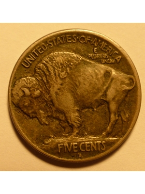 USA BUFFALO, FLAT MOUND, NICKEL, 5 CENTS, HALF DIME, NICKEL 1913 D FIRST YEAR OF ISSUE MINTAGE 4,156,000 EF