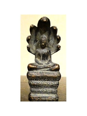 Khmer bronze, Baphuon (Ca 1050-1066) Style. An emblem of Khmer sculpture, 3.36, Ca 19th - 20th century