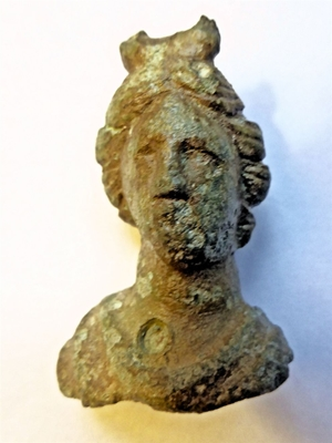 ROMAN BRONZE SCULPTURE OF VENUS CA 100 AD BRITISH FOUND