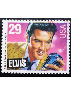 United States, Elvis Presley (1935-1977), rock and roll, 1993, 29 cents stamp