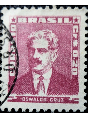 Brazil, Oswaldo Cruz, .20 Cr, red, 1954