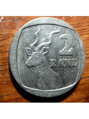 South Africa, 2  Rand Silver, 1991 wild life coin near fine